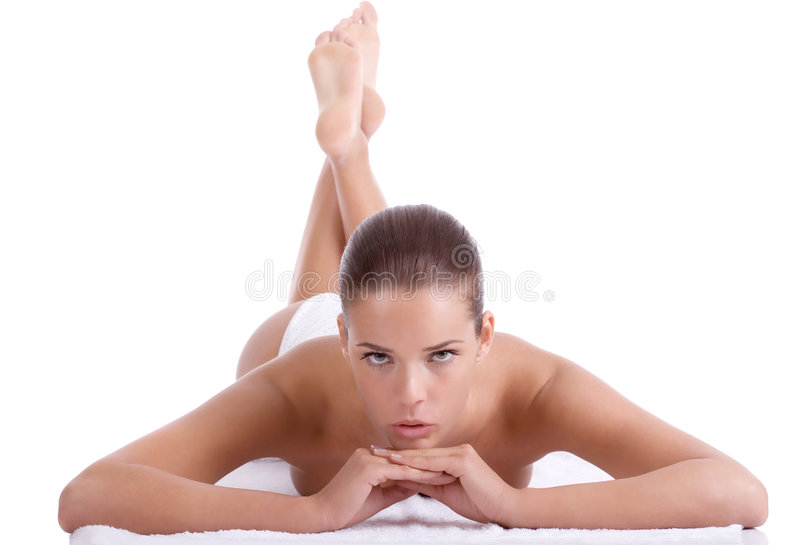 At the spa stock image