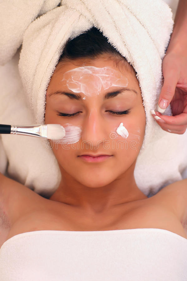 Download SPA stock photo. Image of massaging, cream, face, color - 9431862