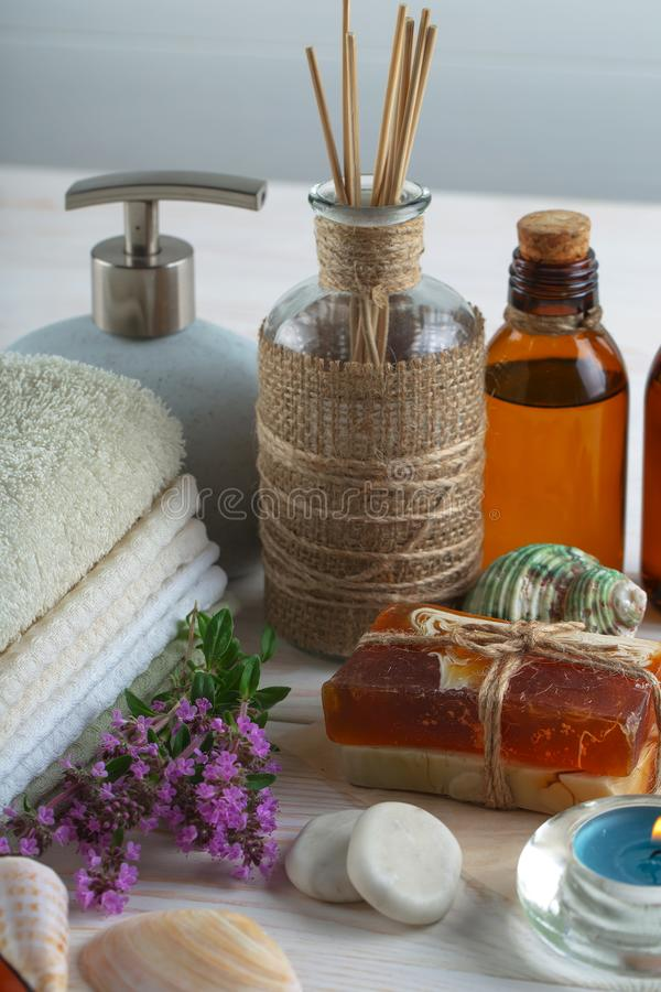 SPA and accessories for oriental massage royalty free stock photos