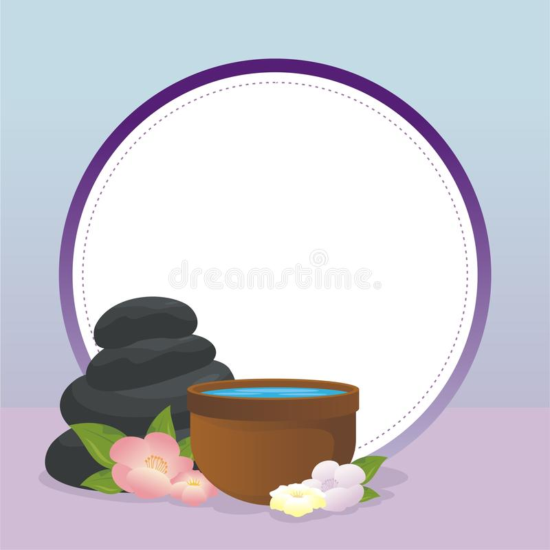 Spa Background with element of Health, harmony. relaxing, Peaceful royalty free illustration
