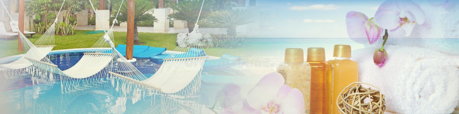 Spa background resort stock photography