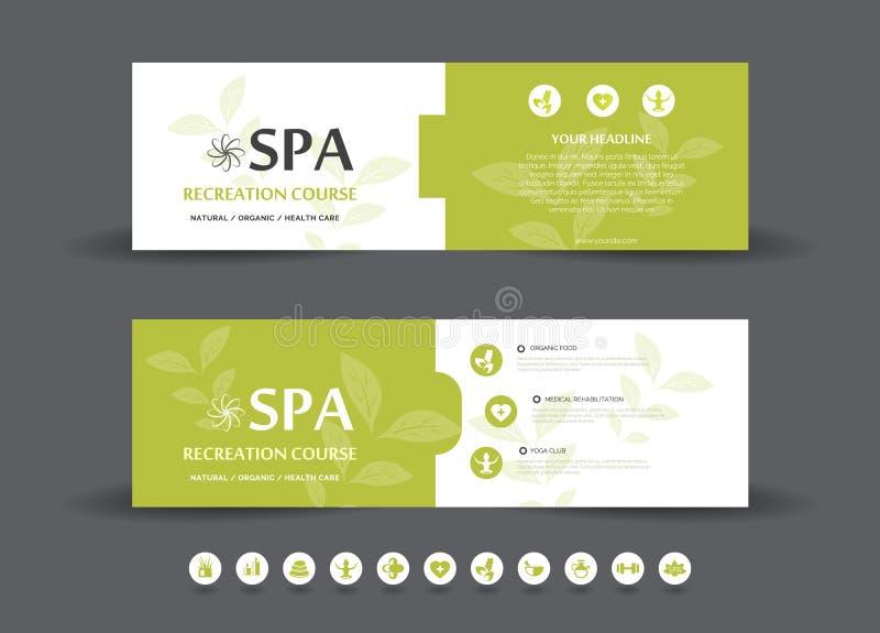 Spa Banner Template vector illustration