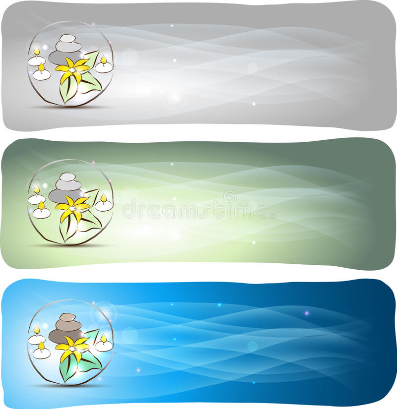 Spa banners stock illustration