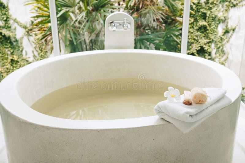 Spa bath compostition stock photos