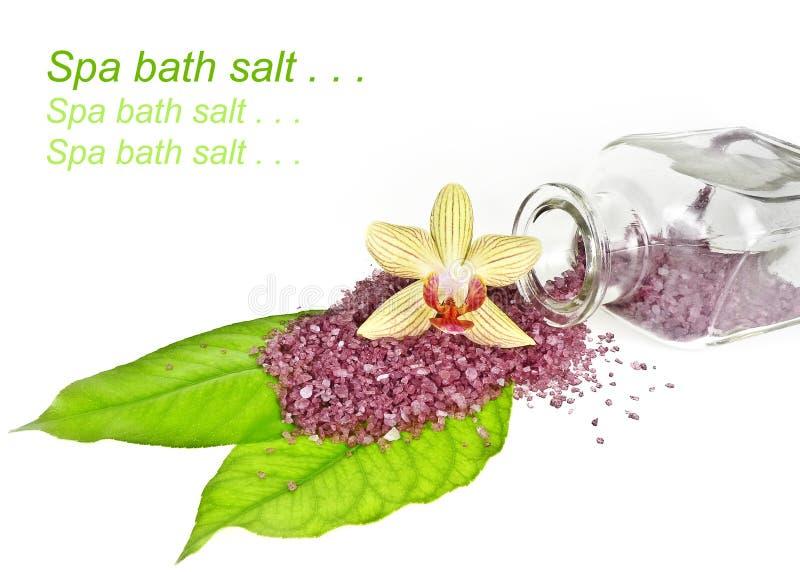 Spa bath salt royalty free stock image