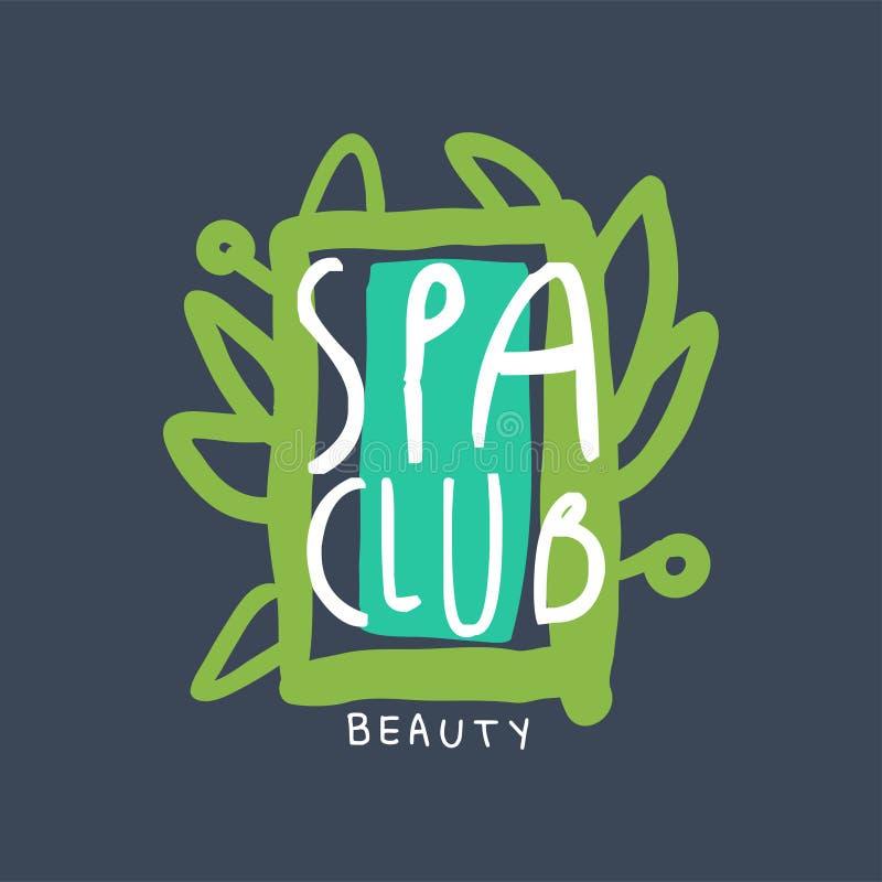 Spa club beauty logo badge for wellness yoga center for Uniform spa vector