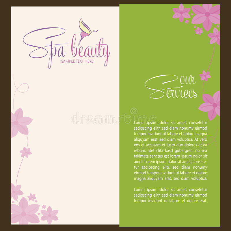 Spa and beauty vector illustration