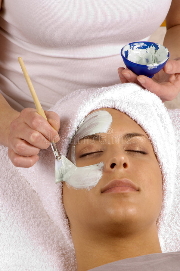 Spa Beauty Facial Mask stock images