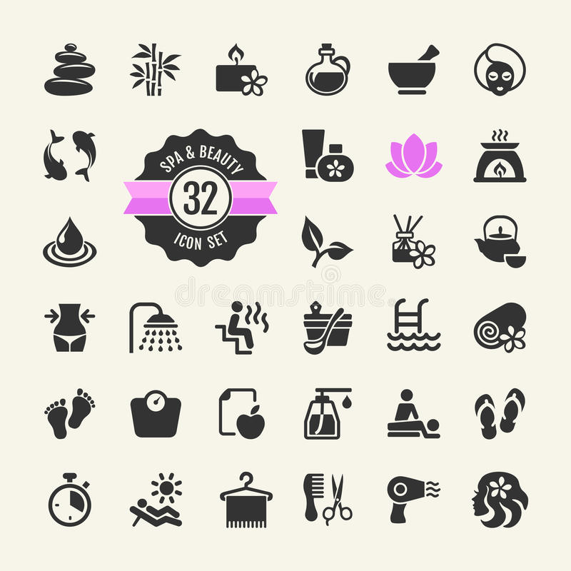 Spa & Beauty Icons Set. Spa and Beauty - web icons collection. Vector