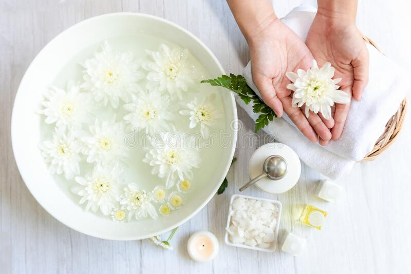 Spa beauty massage health wellness. Spa Thai therapy royalty free stock image