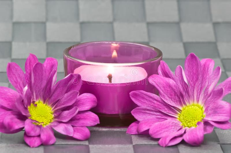 Spa candle royalty free stock photo