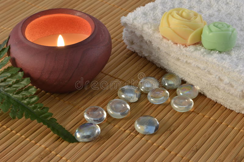 Download Spa candle concept stock photo. Image of picture, freshness - 17942702