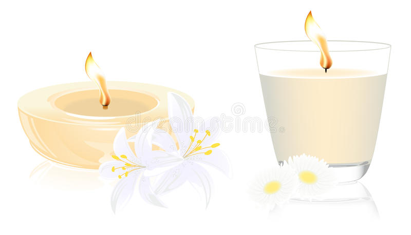 Download Spa candles stock vector. Illustration of affectionate - 12026805