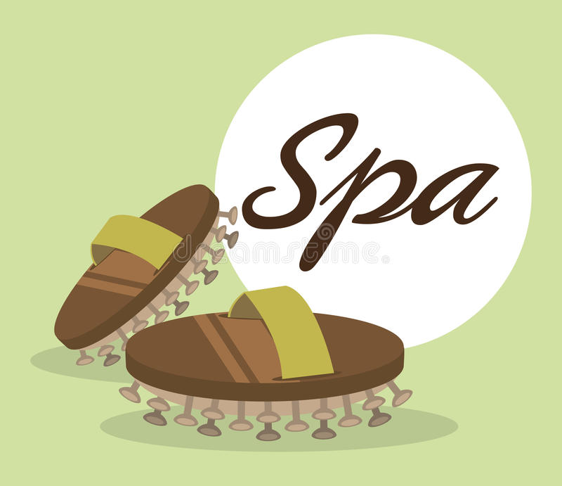 Spa center massage relaxing vector illustration