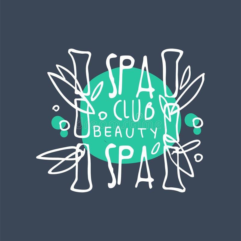 Spa club beauty studio logo badge for wellness yoga for Uniform spa vector