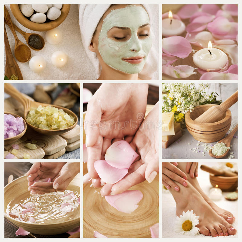 Download Spa Collage stock photo. Image of clay, beauty, herb - 15005066