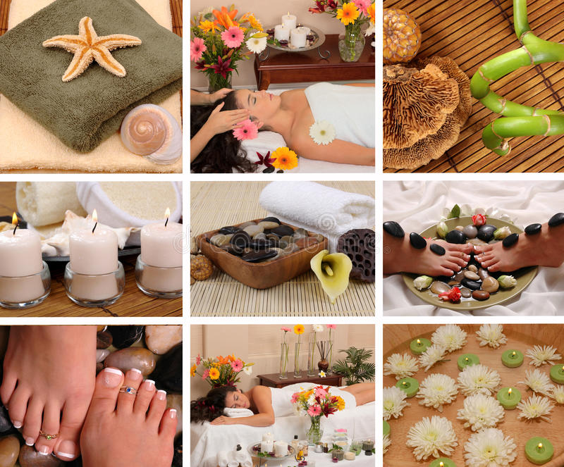 Download Spa Collage stock image. Image of massage, therapy, aroma - 24387951