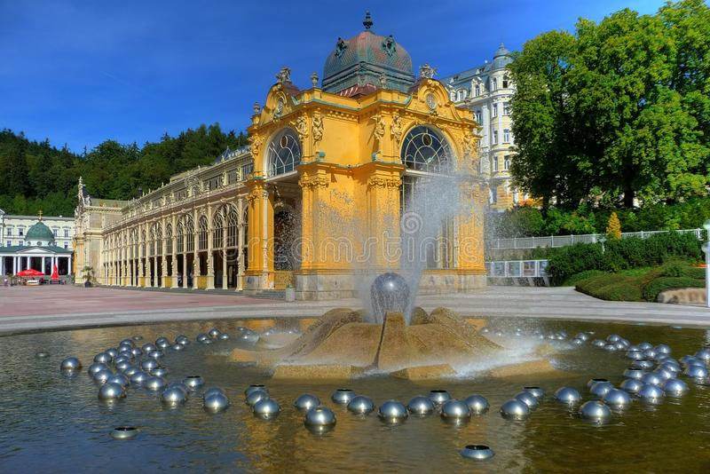 Download Spa Colonnade stock image. Image of marienbad, streams - 13036245