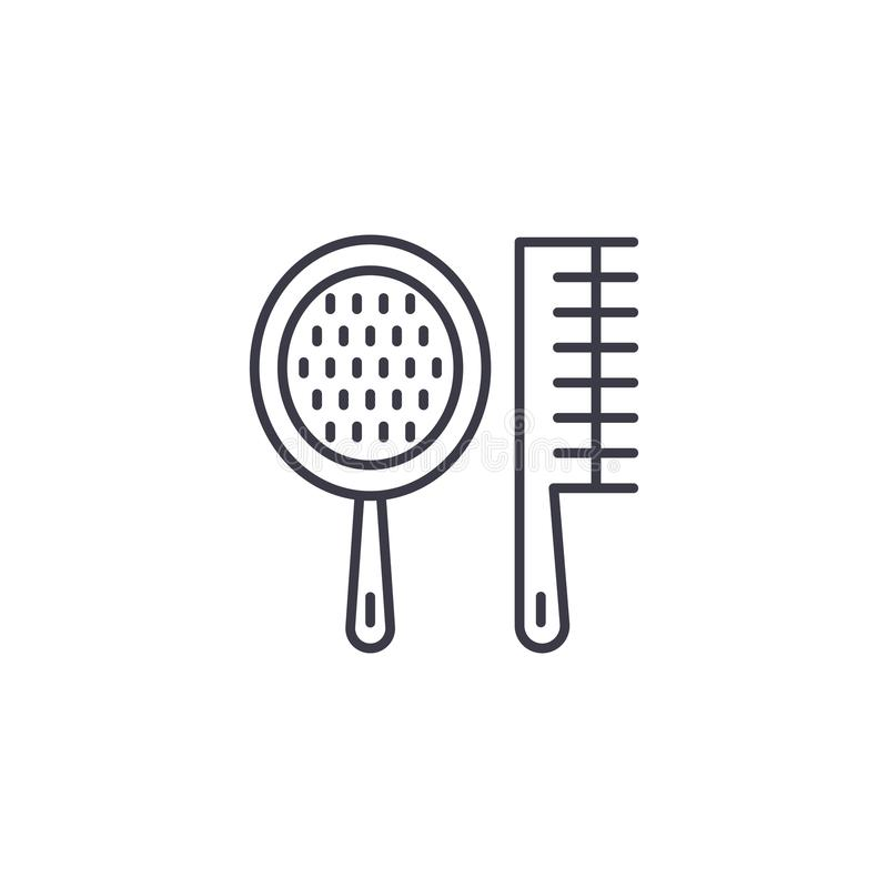 Spa combs linear icon concept. Spa combs line vector sign, symbol, illustration. vector illustration
