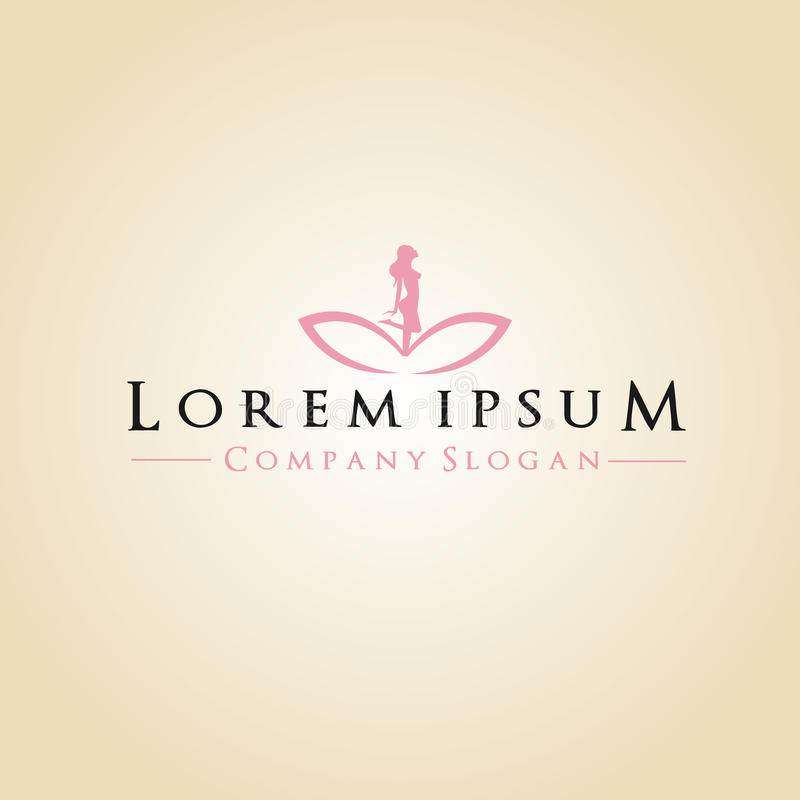 Spa and Company Logo royalty free illustration