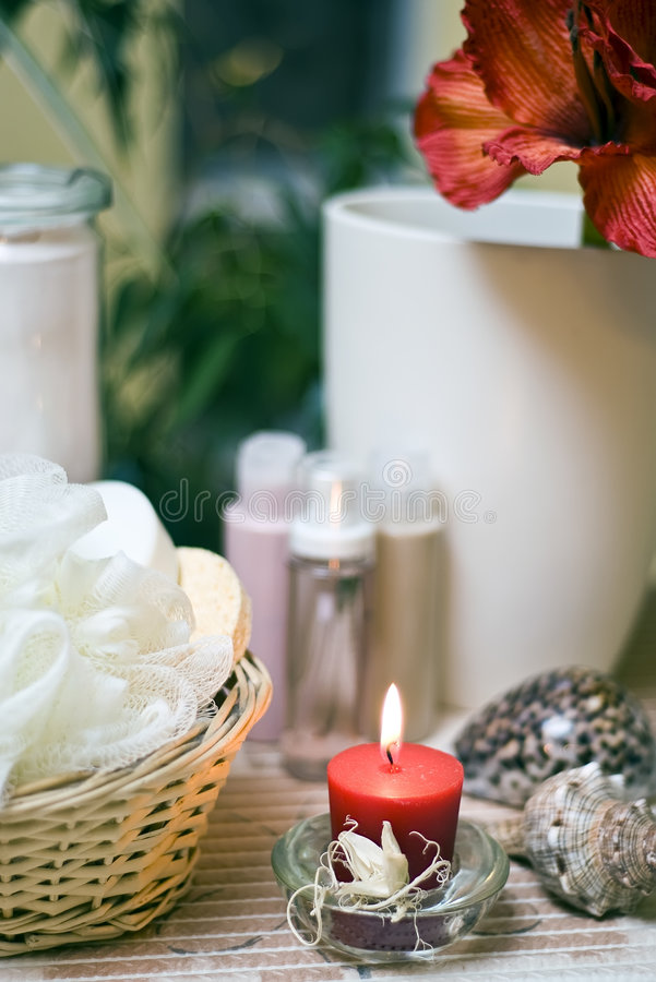 Download Spa composition stock image. Image of home, candle, aromatherapy - 4023951
