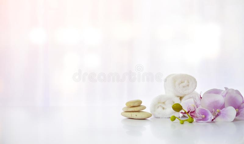 Spa composition on white table.  royalty free stock image