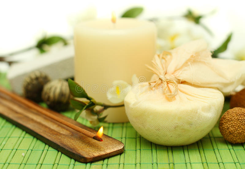 Download Spa Concept On Green Bamboo Stock Image - Image: 23870439