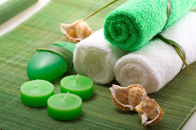 Spa concept of green color royalty free stock photos