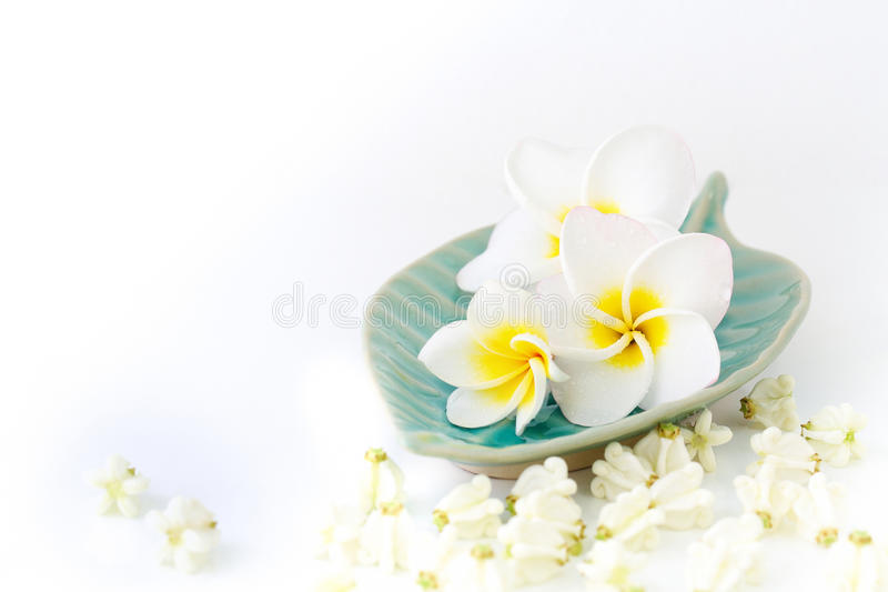 Spa concept. Image spa concept with flower and white background royalty free stock photos