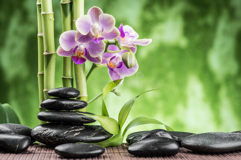 Spa concept with stones royalty free stock photo