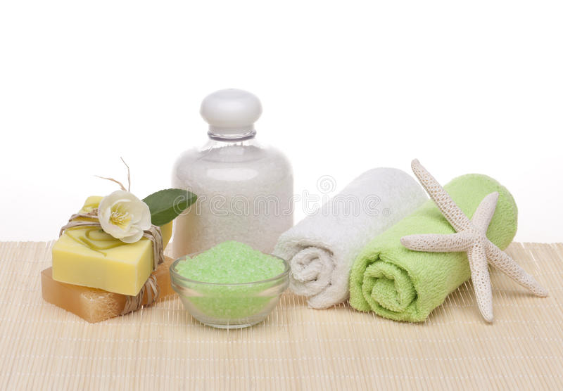 Spa cosmetic products stock image