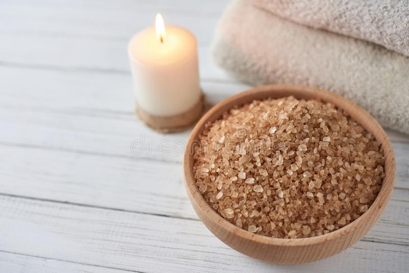Spa and cosmetic treatment composition. With copy space stock image
