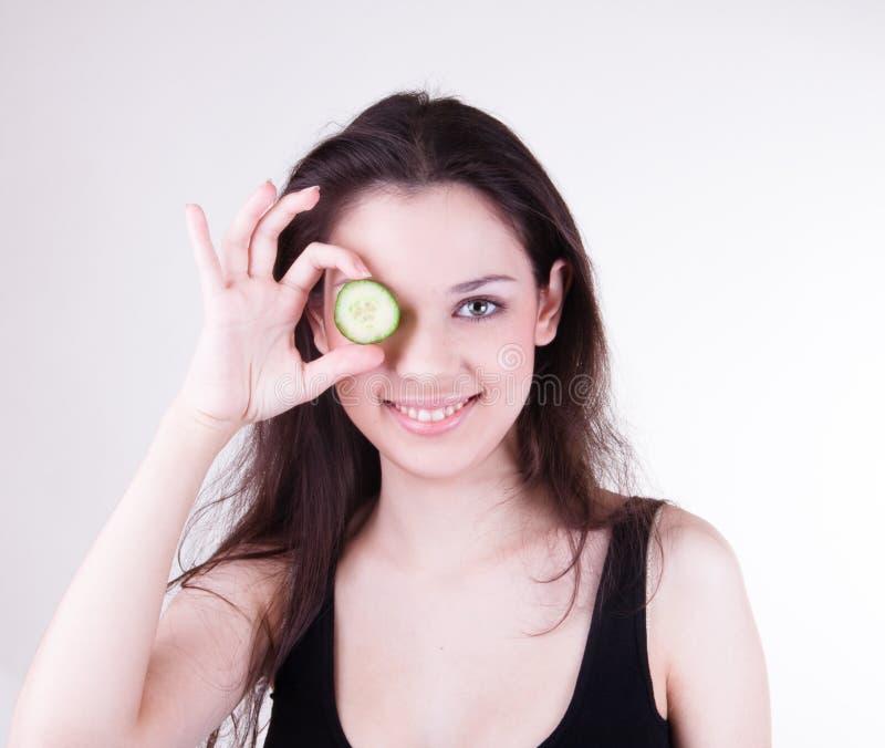 Spa cucumber mask stock photos