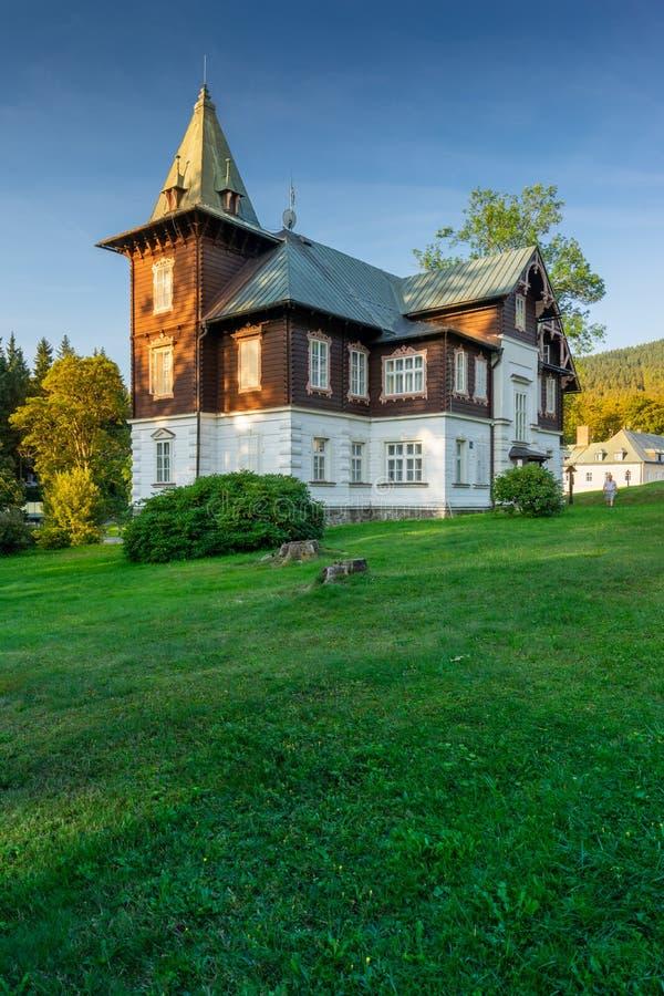 Spa de montaña Karlova Studánka fotos de archivo libres de regalías