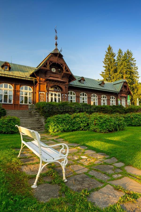 Spa de montaña Karlova Studánka imagen de archivo libre de regalías
