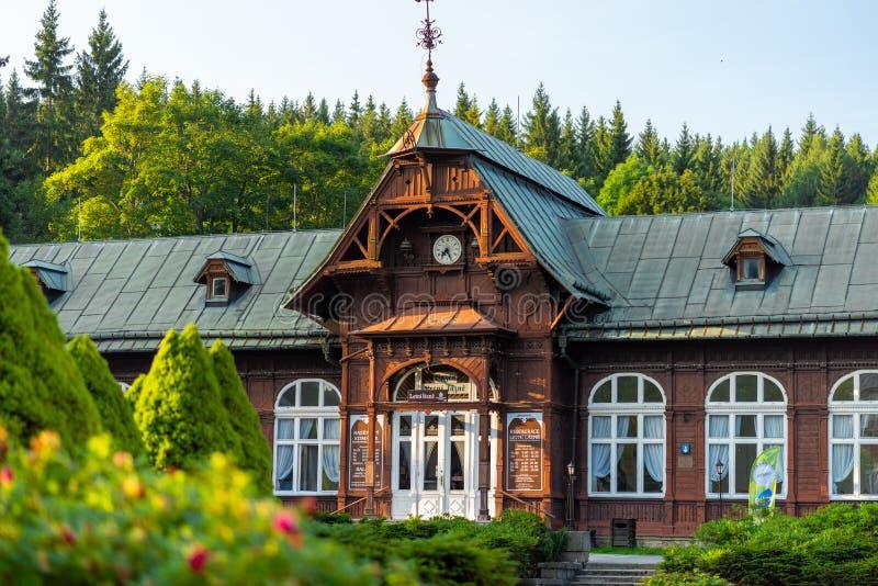 Spa de montaña Karlova Studánka imagen de archivo