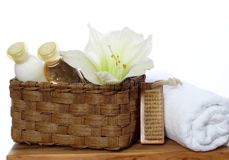 Spa Decoration - Soap, Lotion, Towel Stock Image - Image of hygiene ...