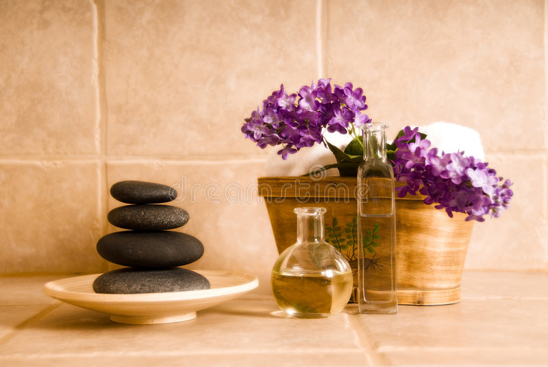 Download Spa design stock photo. Image of flowers, stone, products - 2888926