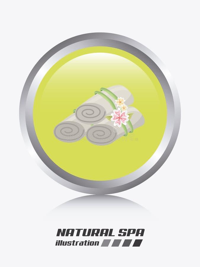 Spa design. Spa graphic design , vector illustration stock illustration