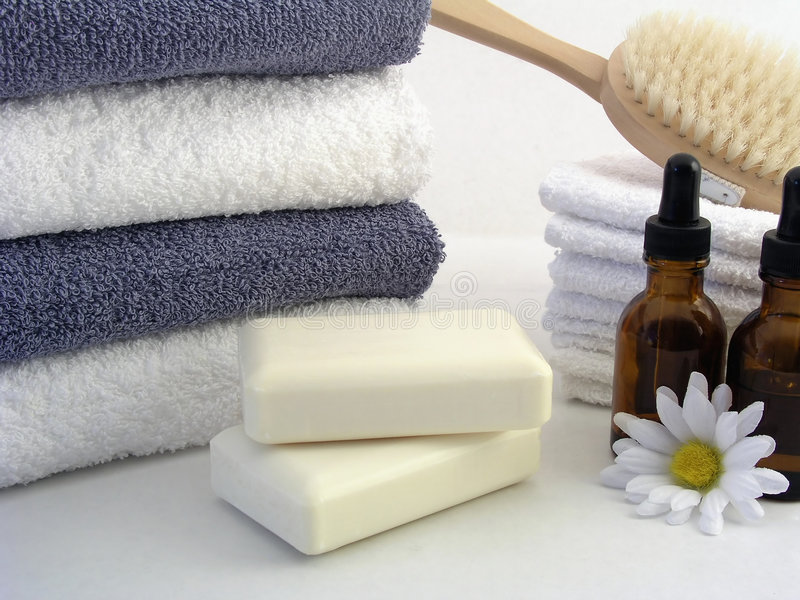 Download Spa Essentials stock photo. Image of natural, soap, stack - 826384