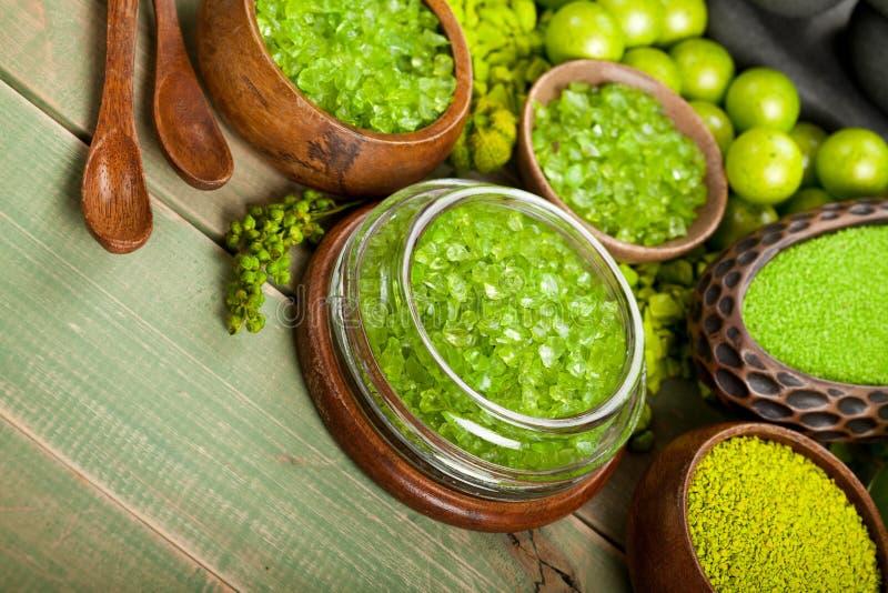 Spa Essentials - Bath Salt Royalty Free Stock Images