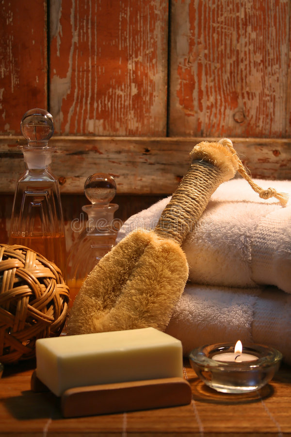 Spa essentials for stress. Essentials products for spa therapy royalty free stock photography