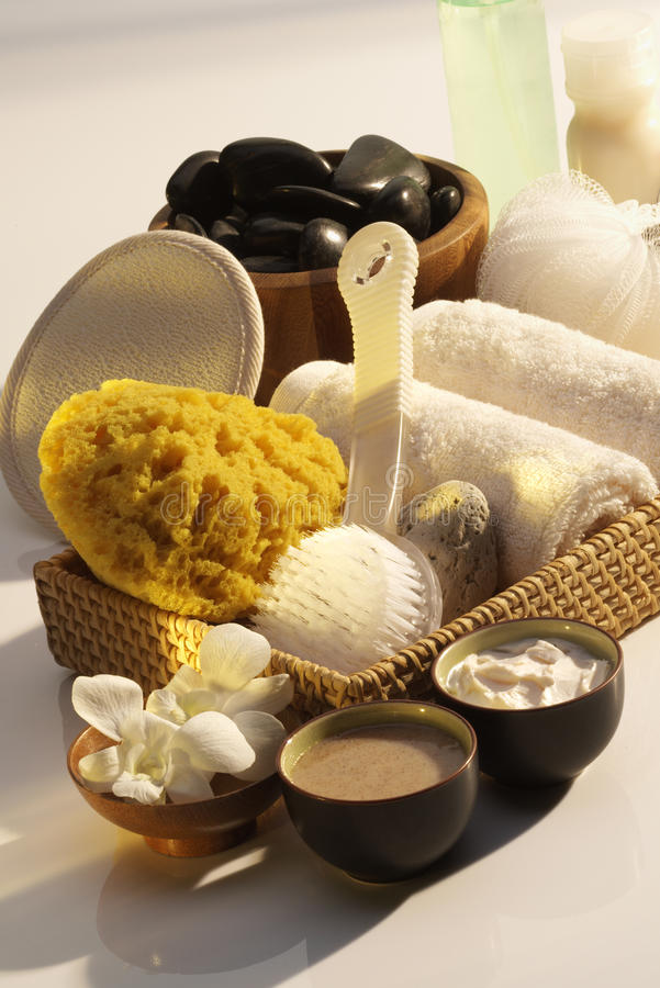 Download Spa Essentials stock photo. Image of pamper, wellbeing - 33070906