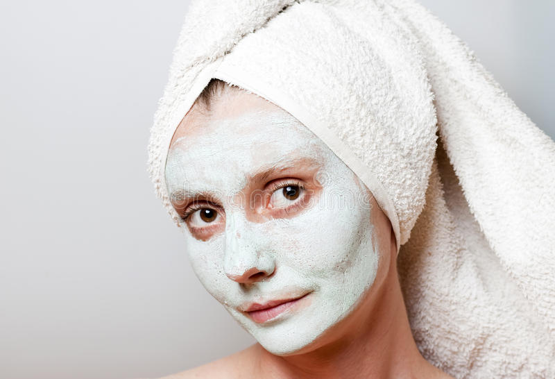 Download Spa Facial Mask stock photo. Image of caucasian, copy - 25632228