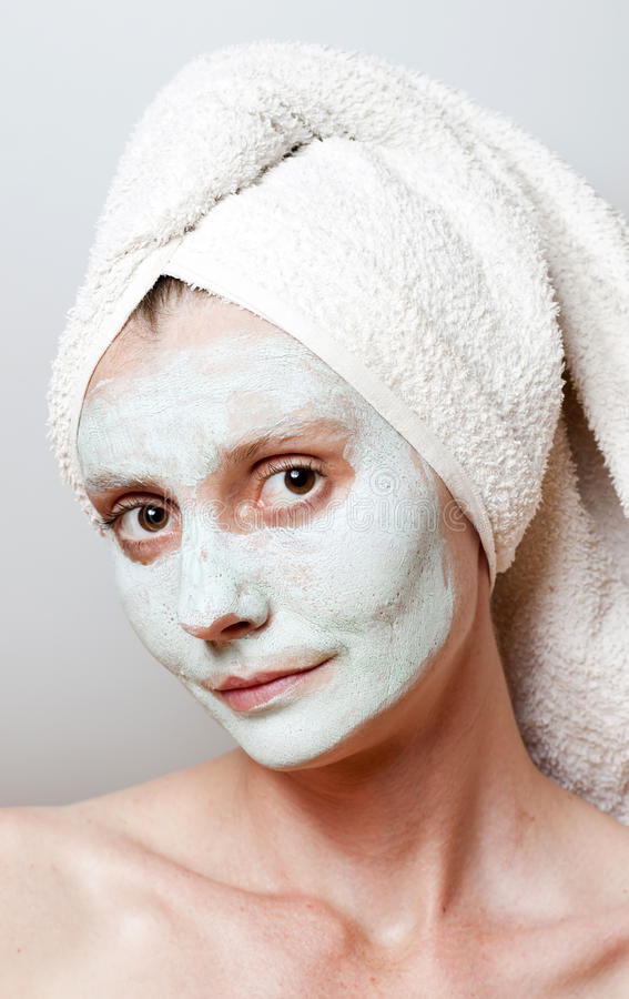 Download Spa Facial Mask stock image. Image of facial, caucasian - 25632241