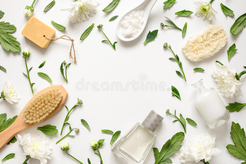 Spa floral background stock photography