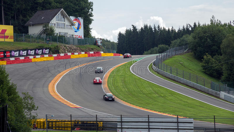 Spa Francorchamps race circuit Belgium royalty free stock photos