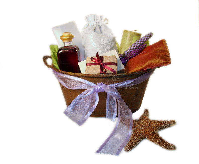 Spa gift basket royalty free stock photos