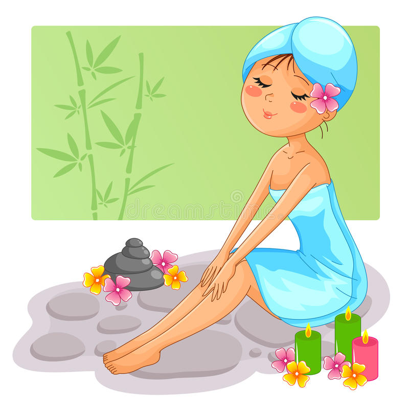 Download Spa girl stock vector. Image of image, natural, cosmetic - 28000369