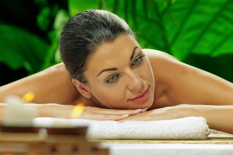 Spa girl royalty free stock images